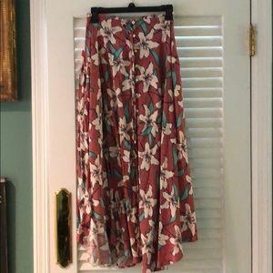 Side split summer skirt